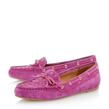 Glorius woven suede driver loafers