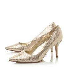 Alina pointed mid heel court shoes