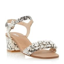 Mahala two part mid heel sandal