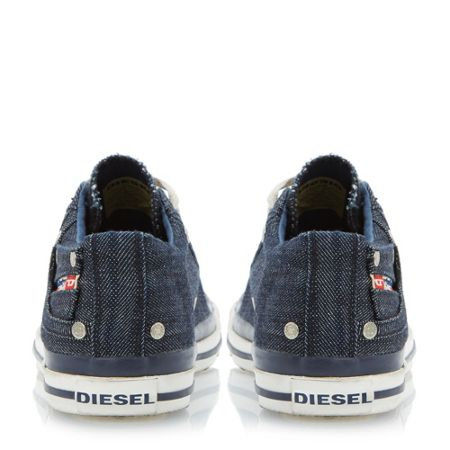 Diesel Exposure low denim lace up trainers
