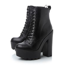 Globaal sm lace up cleat ankle boot