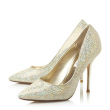 Bonni lurex high pointed court shoes
