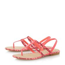 Head Over Heels Limmy double strap toe post flat sandals