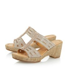 Pippin cut out heeled mule sandal