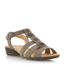 Eartha caged buckle sandals