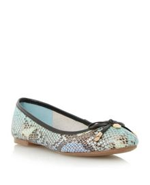 Malmo pony almond toe ballerina shoes