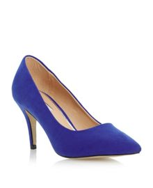 Amathyst heel court shoe