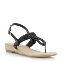 Levies mini wedge plaited toepost sandal