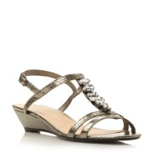 Kalamata t-bar jewel trim sandal