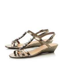 Linea Kalamata t-bar jewel trim sandal