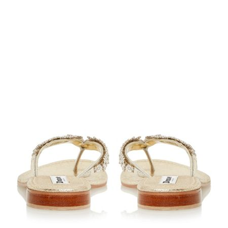 kindy diamante toe post sandals