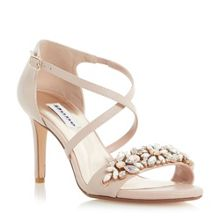 Mollee jewel vamp cross sandal