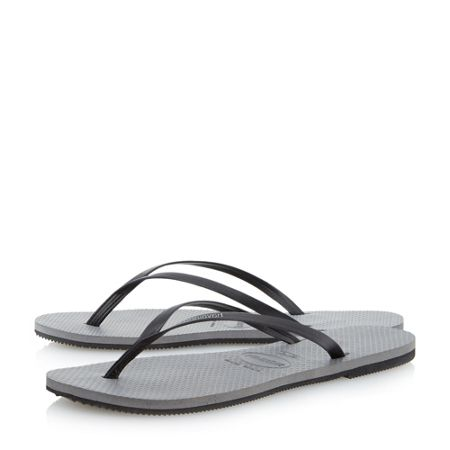 Havaianas 4133206 leather toe post sandals