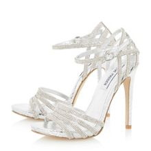 Cagged diamante strappy high heel sandal