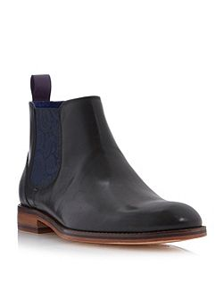 Camroon paisley panel chelsea boots