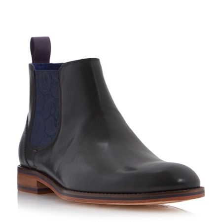 Ted Baker Camroon paisley panel chelsea boots