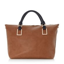Deloris double top handle tote bag