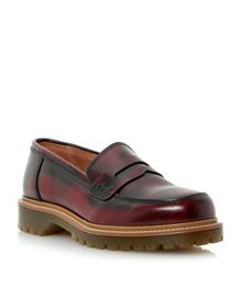 Lacing penny loafer