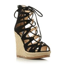 Theea lace up wedge sandals