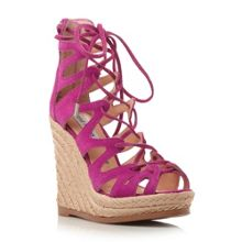 Steve Madden Theea lace up wedge sandals