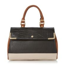 Dolly colour block top handle bag