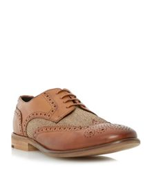 Aston Raffia Raffia Lace Up Formal Brogues