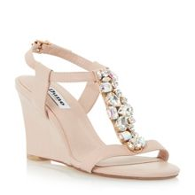Marzia jewelled t bar wedge
