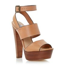 Dezzzy platform heel leather sandals