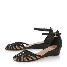 Dune Knightly caged detail low wedges