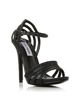Cagged jewelled strap heel sandals