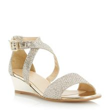 Kadillac lurex low wedge sandals