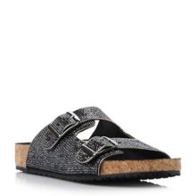 Steve Madden Rivitt sm double buckle footbed