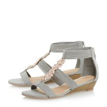 Kavana elastic trim wedge sandal