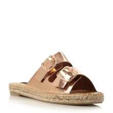 Dune Black Linzi double strap espadrille sandals