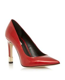 Arley Metal Heel Court Shoe