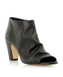 Caitlen soft leather peeptoe boot