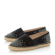 Given heat stone espadrille