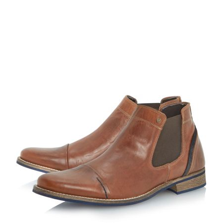 Dune Chili Blue Detail Chelsea Boots