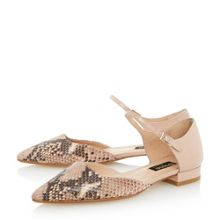 Holley reptile print two part flat shoe