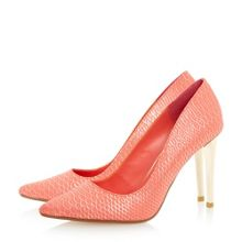 Betsee reptile pointed toe court shoes