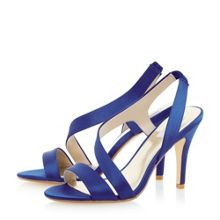 Monrow satin asymmetric strappy sandals