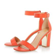 Mushu metallic insert block heel sandals