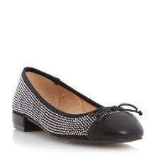 Head Over Heels Hascha studded ballerina shoes