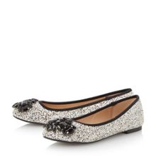 Hestiar jewel detail ballerina shoes