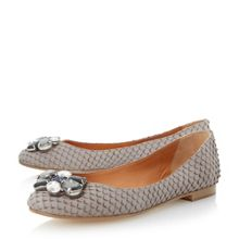 Hubble jewel trim ballerinas