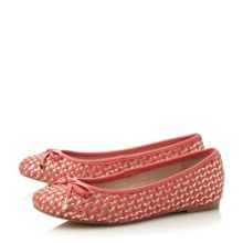 Hobbi woven leather ballerina shoes