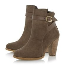 Quill suede buckle detail ankle boot