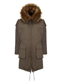 Donnie faux fur lined parka