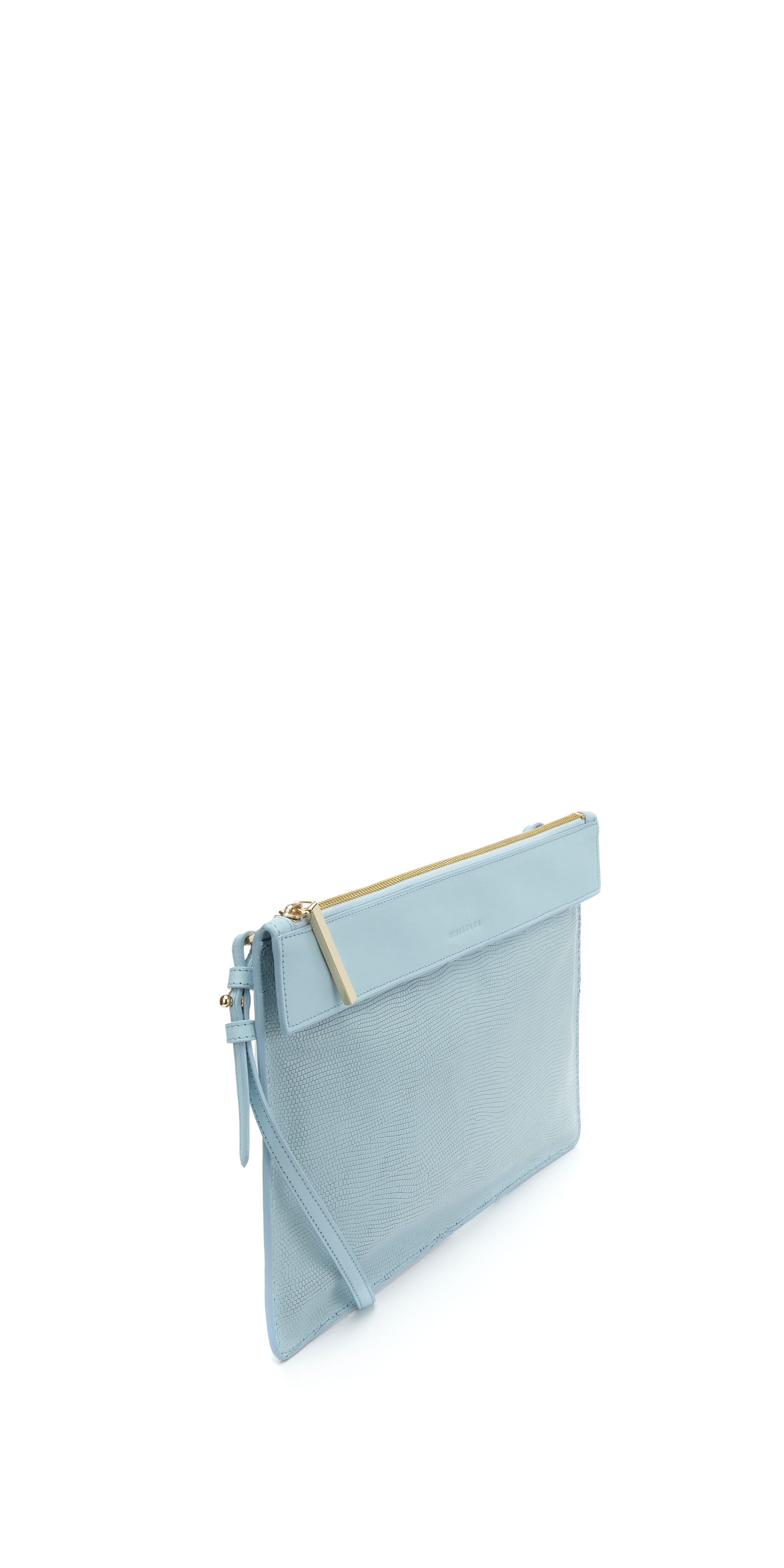 Olivia leather strap clutch