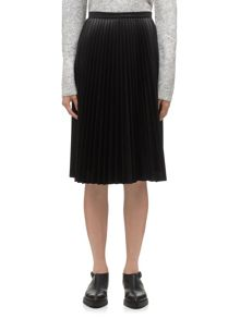 Sora Faux Leather Pleated Skirt